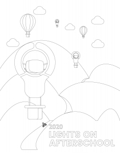 Lights On Afterschool Lightbulb coloring page